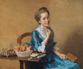 Lady with fruit basket