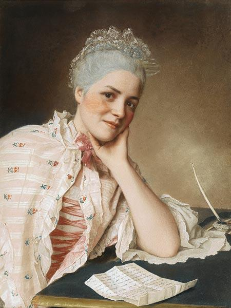 Portrait of the singer Mademoiselle Louise Jacquet