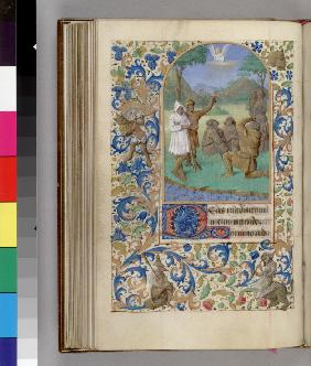 The Annunciation to the Shepherds (Book of Hours)