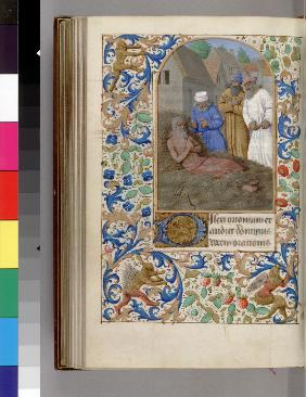 Job on the dunghill (Book of Hours)