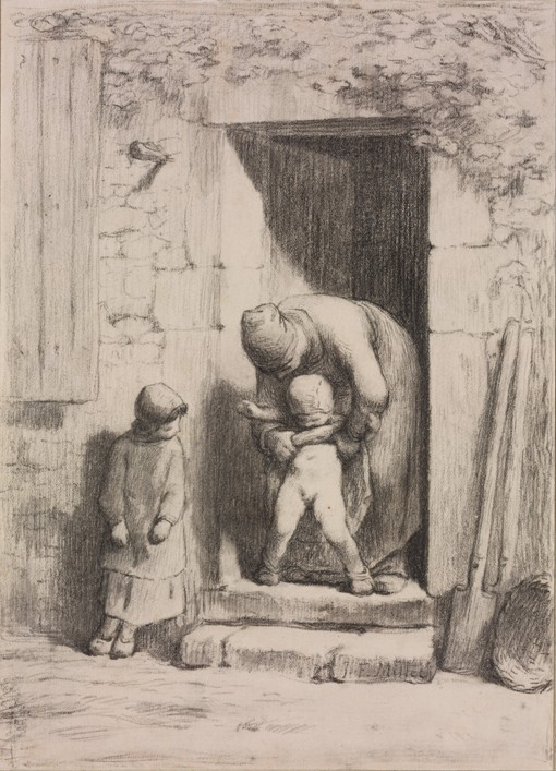 maternal solicitude jeanfran231ois millet as art print or