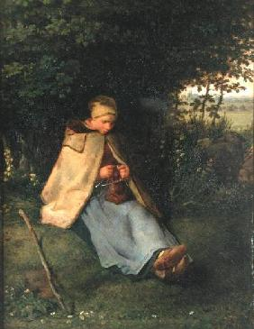 The Knitter or, The Seated Shepherdess