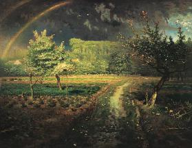 Spring landscape with rainbows (Le Printemps)