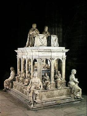 View of the Tomb of Louis XII (1462-1515) and Anne of Brittany (1496-1533)
