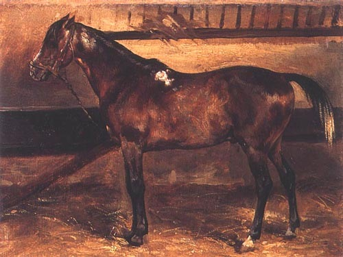 Brown Horse In The Stable Jean Louis Th 233 Odore G 233 Ricault