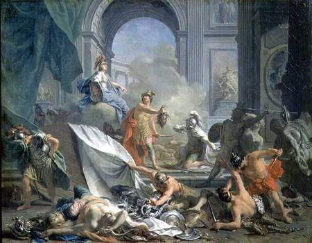 Perseus Under The Protection Of Minerva Jean Marc Nattier