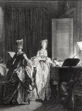 The Harpsichord, illustration from 'La Nouvelle-Heloise'