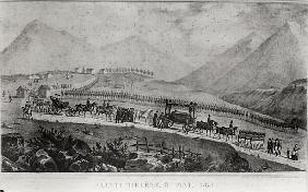 The Funeral Cortege of Napoleon Bonaparte (1769-1821) at Saint Helena, 9th May 1821