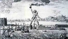 The Colossus of Rhodes, from 'Entwurf einer historischen Architektur'
