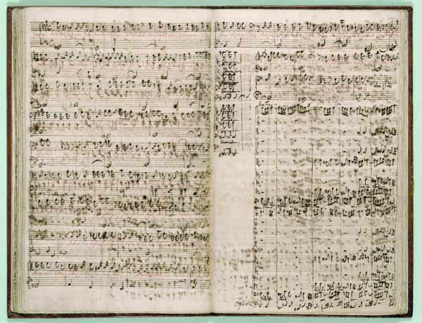 Pages from Score of the ''The Art of the Fugue'', 1740s (pen and ink on paper)