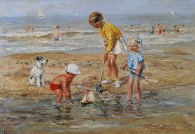 Children playing at the seaside