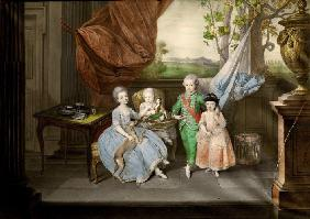 The children of Ferdinand of Parma (Louis, Carolina, Maria Antonia and Carlotta)