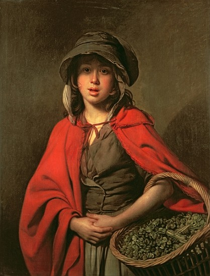 The Watercress Girl Johann Zoffany As Art Print Or Hand