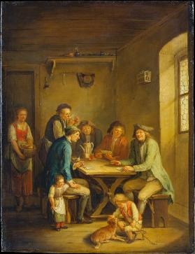 Peasants Playing Cards