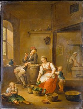 A Peasant Family at Home