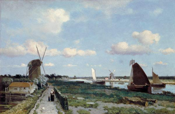 View of the Trekvliet canal near The Hague