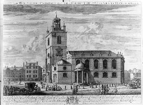 The South Prospect of the Church of St. Clements Danes, London