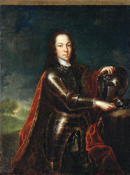 Portrait of Tsarevich Alexei Petrovich of Russia, 1728 (see 347496 for pair)