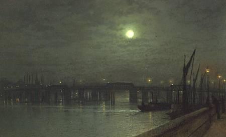 Battersea Bridge By Moonlight John Atkinson Grimshaw As Art Print