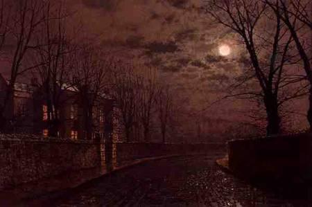 Moonlit Street Scene John Atkinson Grimshaw As Art Print Or Hand