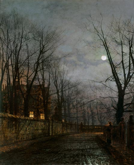 Moonlit Street Scene John Atkinson Grimshaw As Art Print