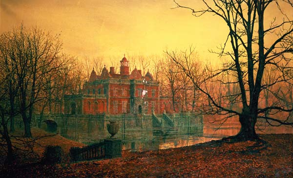 The Haunted House John Atkinson Grimshaw As Art Print Or Hand