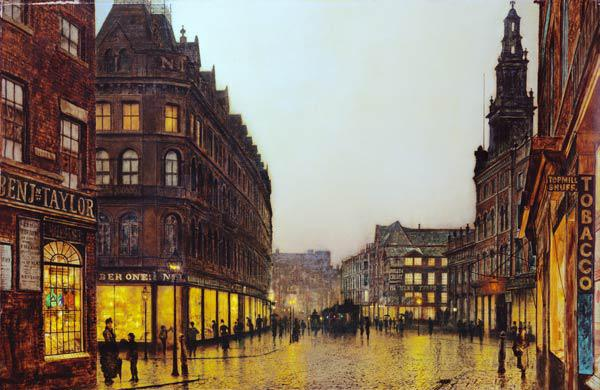 Boar Lane, Leeds, 1881 (oil on canvas)