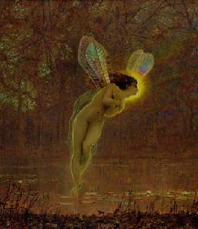 Iris, detail of the fairy, 1886 (oil on canvas) (detail of 100956)