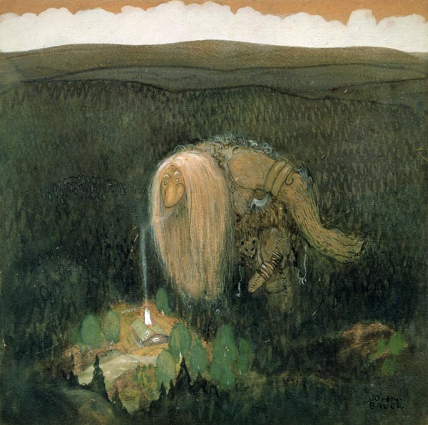 A Forest Troll C 1913 W C On Paper John Bauer As Art