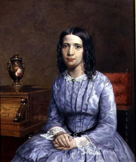 Portrait Of Elizabeth Barrett Browning John Brett As