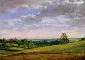 View from Highgate Hill (oil on canvas)