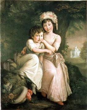 Portrait of Stephen Peter and Mary Anne Rigaud as Children