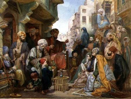 A Street In Cairo John Frederick Lewis As Art Print Or