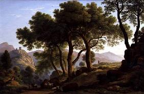 A Romantic Wooded Landscape