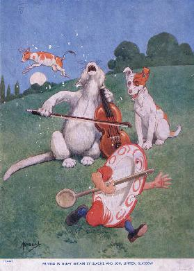 Hey Diddle Diddle, the cat on the fiddle (litho)
