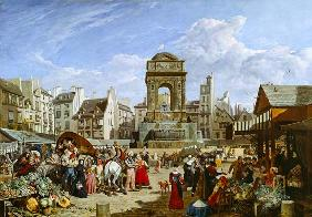 The Market and Fountain of the Innocents, Paris