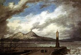 Vesuvius and Somma from the Mole at Naples