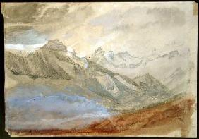 Mont Dauphiny, near Chartreuse  & pencil on