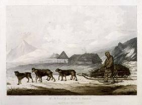 The Narta, or Sledge for Burdens in Kamtschatka, from 'Views in the South Seas'