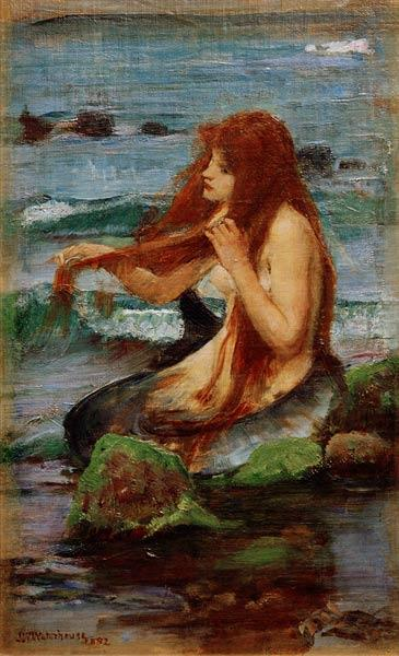 J.W.Waterhouse, A Mermaid, 1892