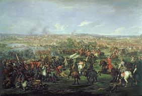 The Battle of Blenheim on the 13th August 1704, c.1743 (see 195676 for detail)