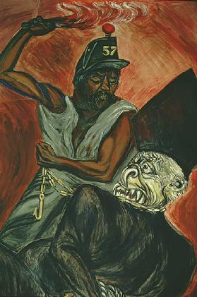 Juarez and the Defeat of the Empire mural, detail from The Political Cleric