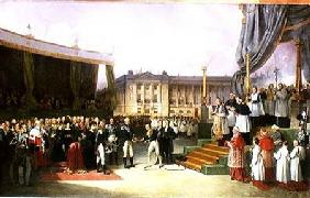 Inauguration of a Monument in Memory of Louis XVI (1754-93) by Charles X (1757-1836) at the Place de