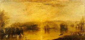 The Lake, Petworth: Sunset, a Stag Drinking 1829