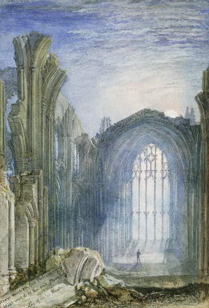 Melrose Abbey: eine Illustration zu Sir Walter Scotts 'The Lay of the Last Minstrel'.