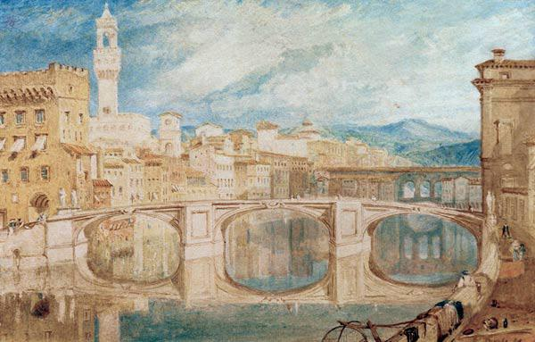 W.Turner, View of Florence from Ponte...