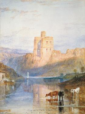 Norham Castle illustration to Walter Scott of Marmion