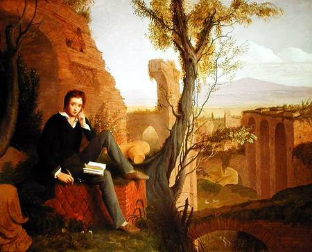 Percy Bysshe Shelley (1792-1822) - Joseph Severn as art print or ...