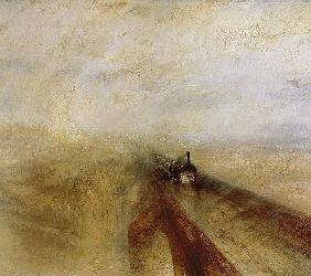 Rain Steam and Speed, The Great Western Railway, painted before 1844 (detail of 4053)