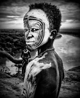 A boy of the Karo tribe. Omo Valley (Ethiopia).